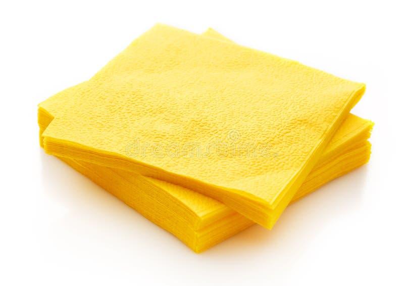 新的一次性纸表餐巾 库存照片