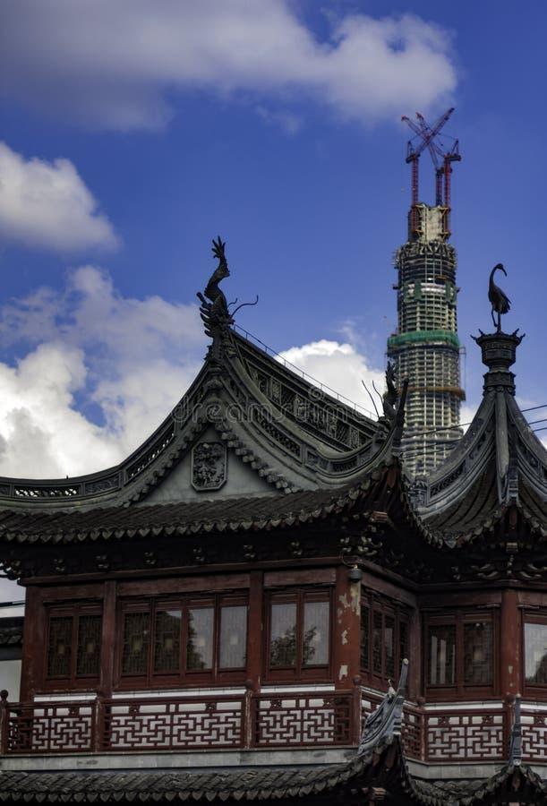 新的上海遇见老 库存图片