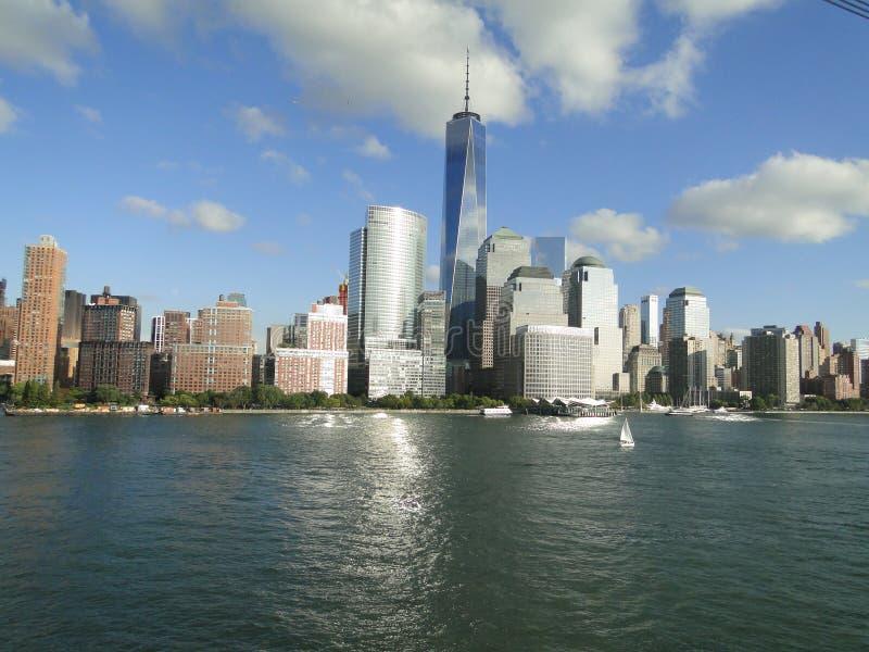 新的世界贸易中心 免版税图库摄影