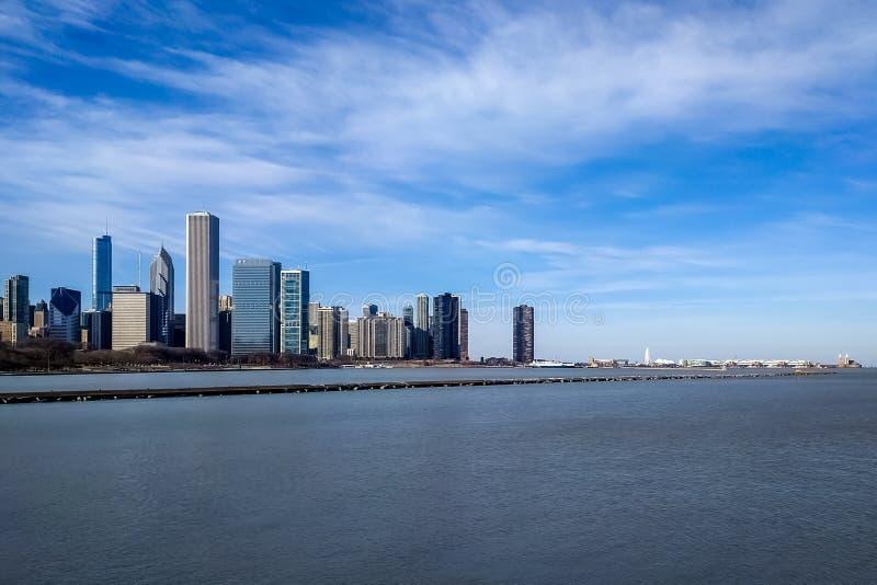 新的东边地平线 芝加哥,美国 库存照片