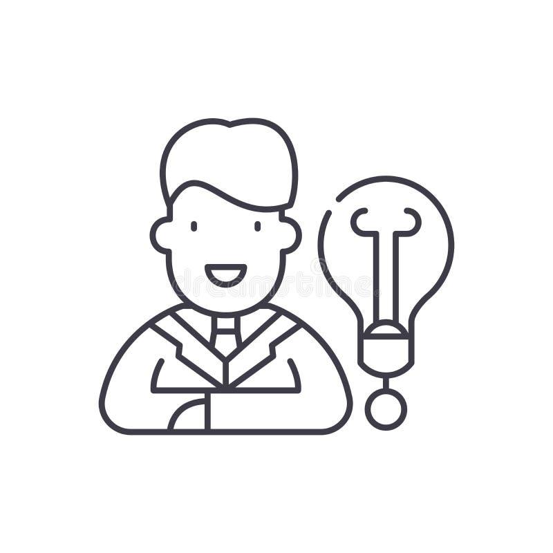 新的企业想法线象概念 新的企业想法传染媒介线性例证,标志,标志 皇族释放例证
