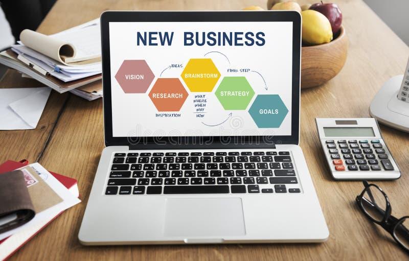 新的企业视觉客观企业家概念 免版税库存图片