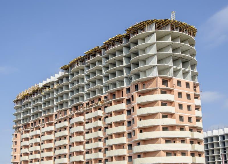 新的住宅整体砖房子 免版税库存图片