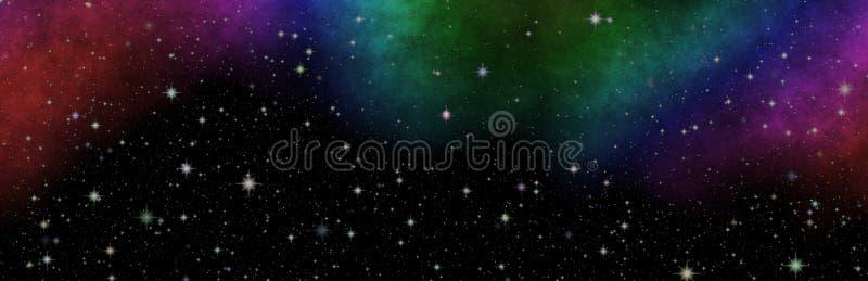 新的全景到外层空间里 科学秘密  发现遥远的行星 库存照片