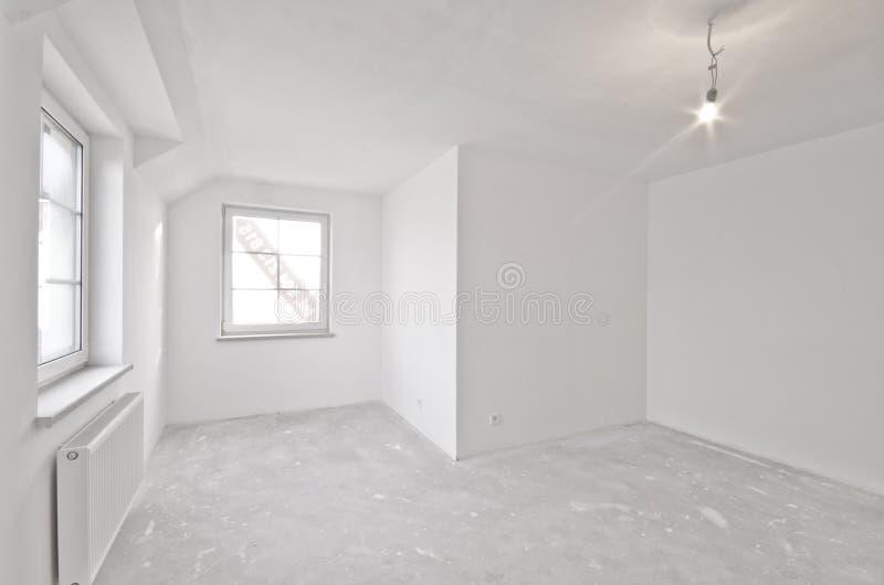新的公寓,开发商阶段内部  免版税库存图片