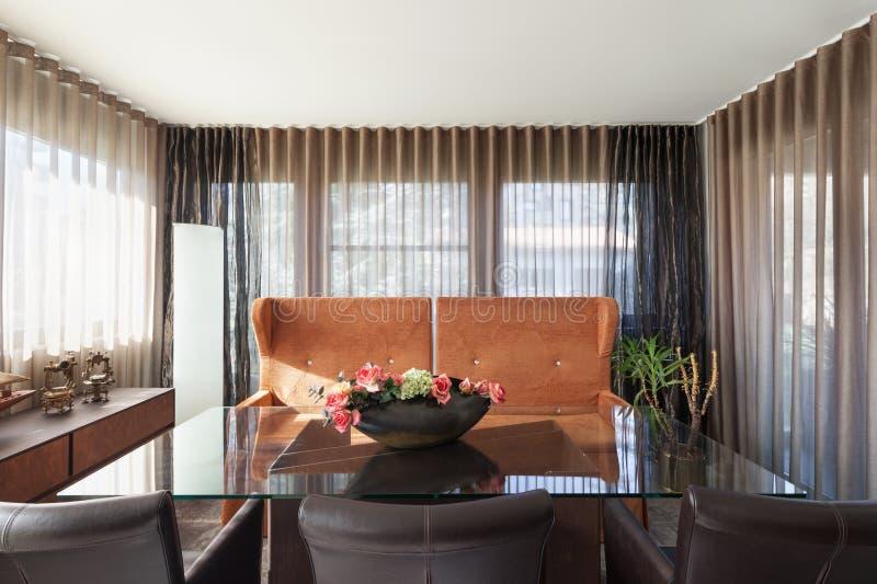 新的公寓,餐厅 免版税图库摄影
