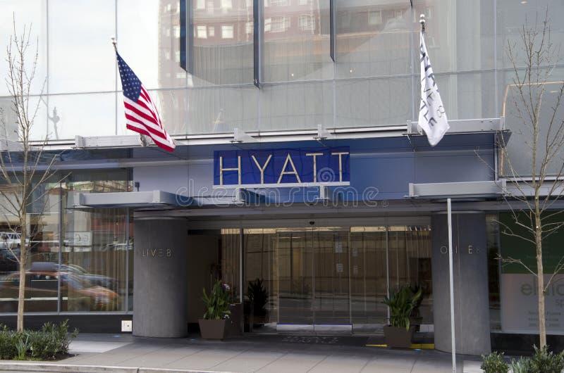 新的凯悦旅馆Seatle 免版税库存照片