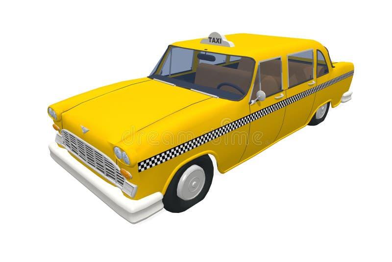 新的出租汽车黄色约克 皇族释放例证