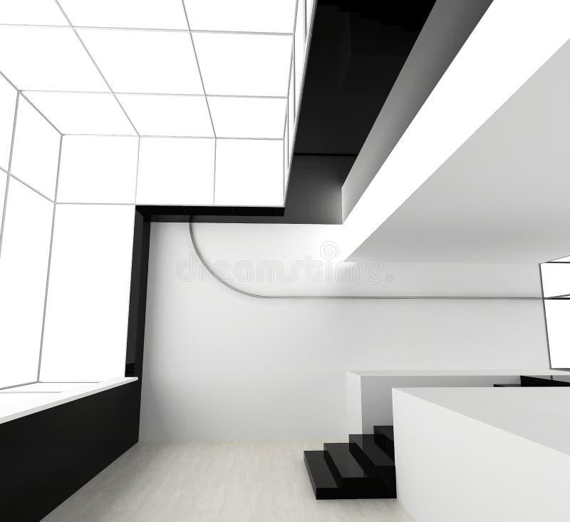 新的办公室白色 库存例证
