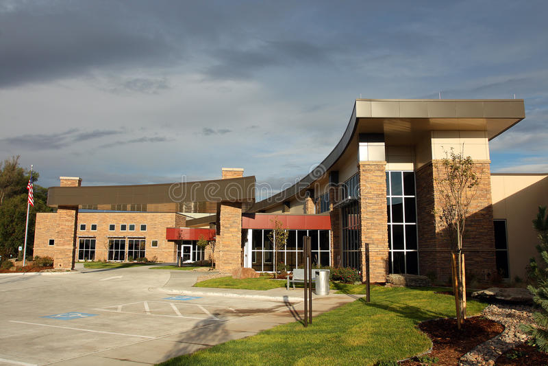 新的医院 免版税库存图片