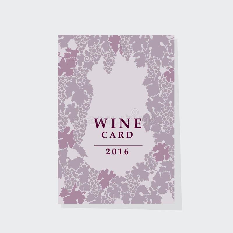 新的博若莱红葡萄酒海报模板 库存例证