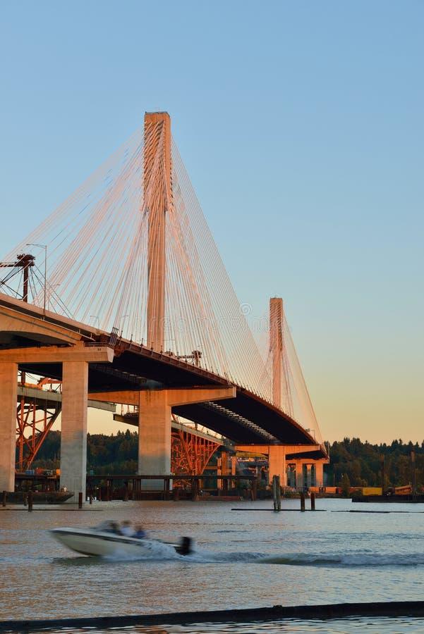 新的口岸曼桥梁 免版税库存照片