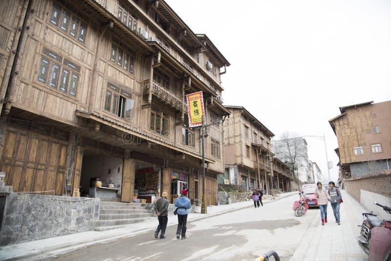 新的古色古香的大厦 库存图片