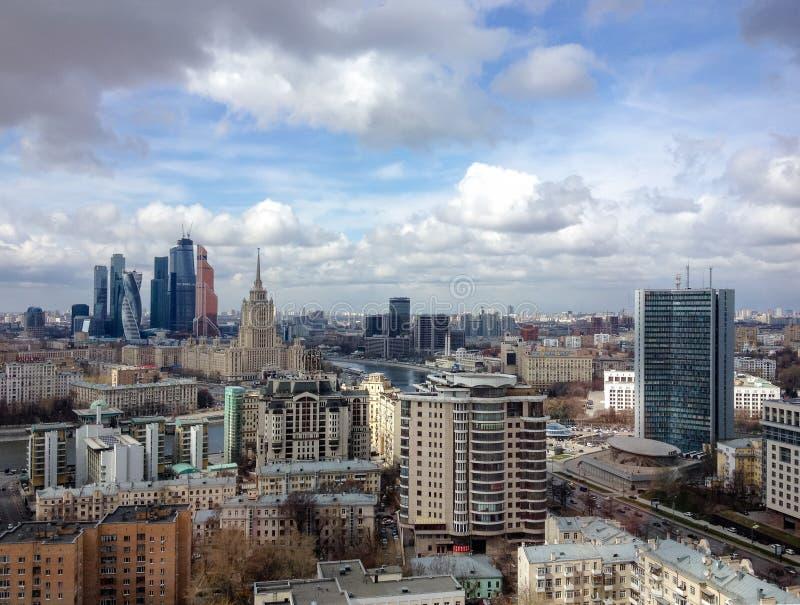 新的商业区莫斯科国际商业中心(莫斯科城市) 库存照片