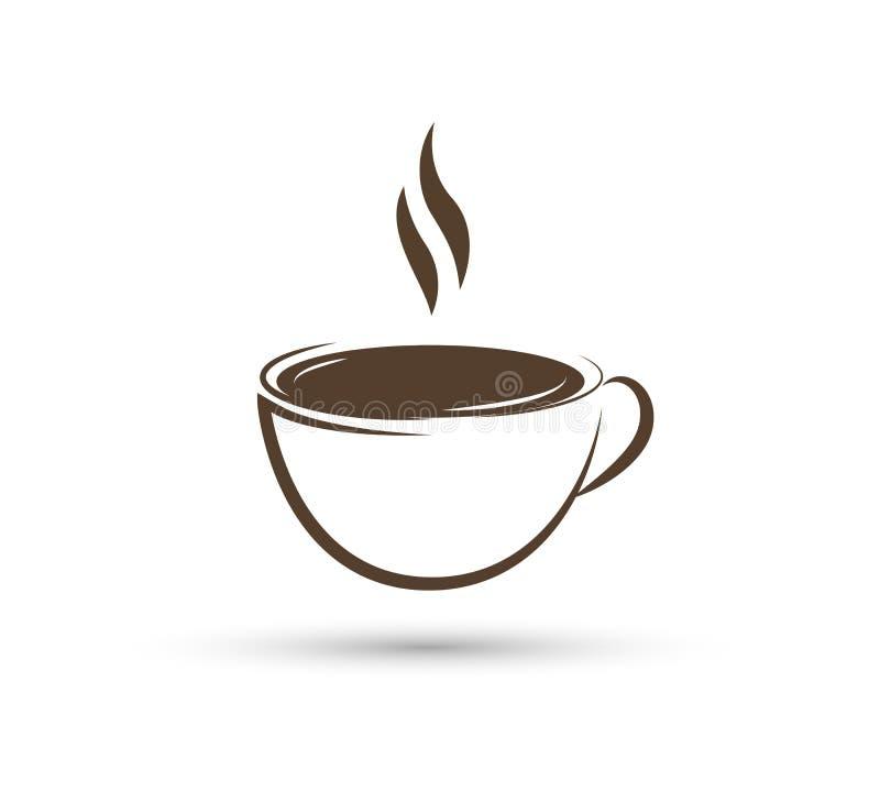 新的商标A茶,复印店的cofee新的时髦商标,您的事务的 库存例证