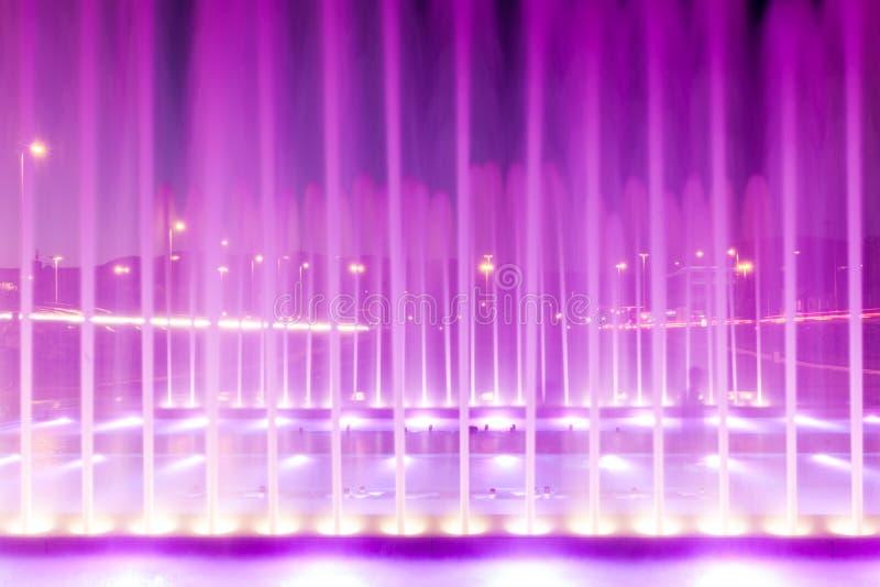 新的喷泉在萨格勒布,克罗地亚 免版税库存图片