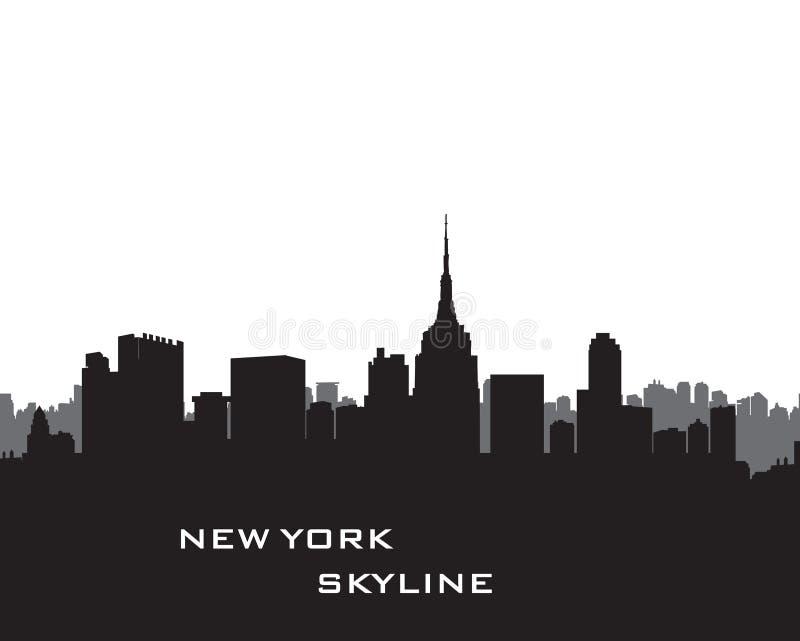 新的地平线约克 传染媒介美国风景 与skyscrape的都市风景 向量例证