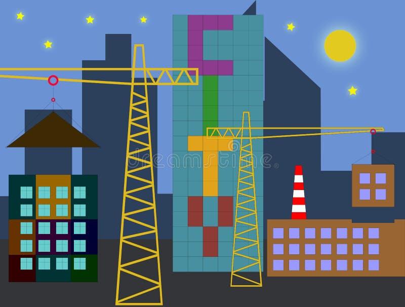 新的城市的建筑 库存照片