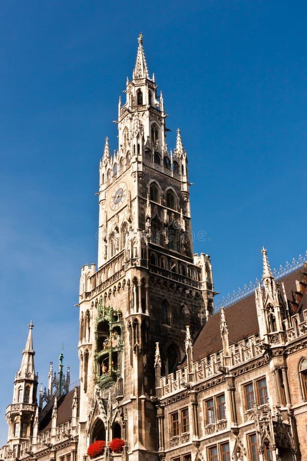 新的城镇厅在慕尼黑,德国 免版税库存图片