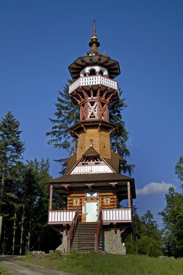 新的塔 免版税库存照片