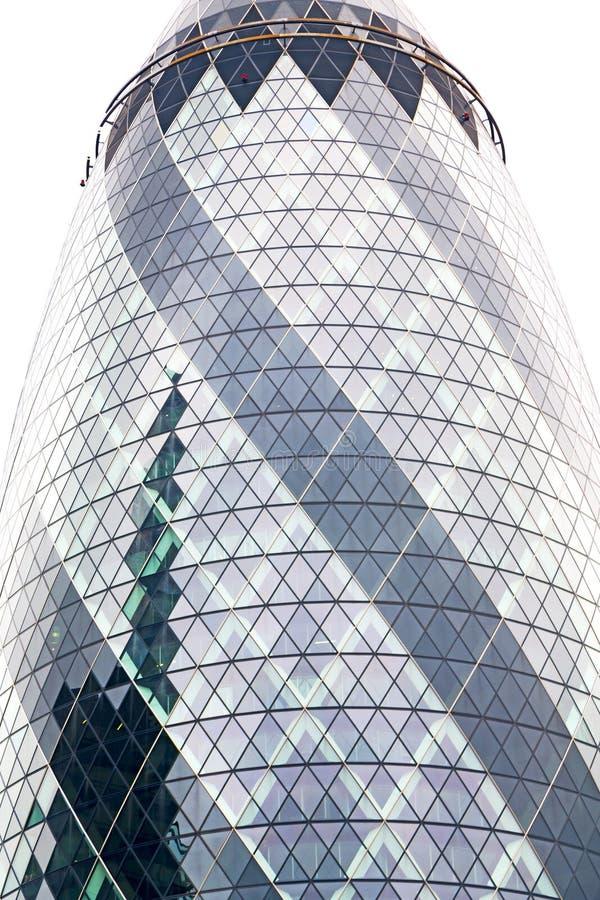 新的大厦在伦敦摩天大楼窗口里 库存照片
