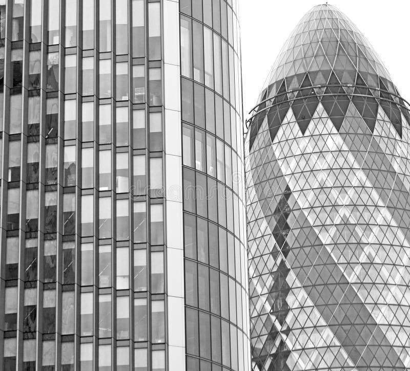 新的大厦在伦敦摩天大楼财政的区 免版税库存照片