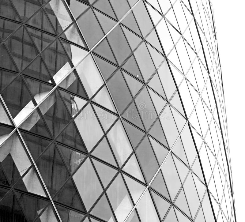 新的大厦在伦敦摩天大楼财政的区 免版税库存图片