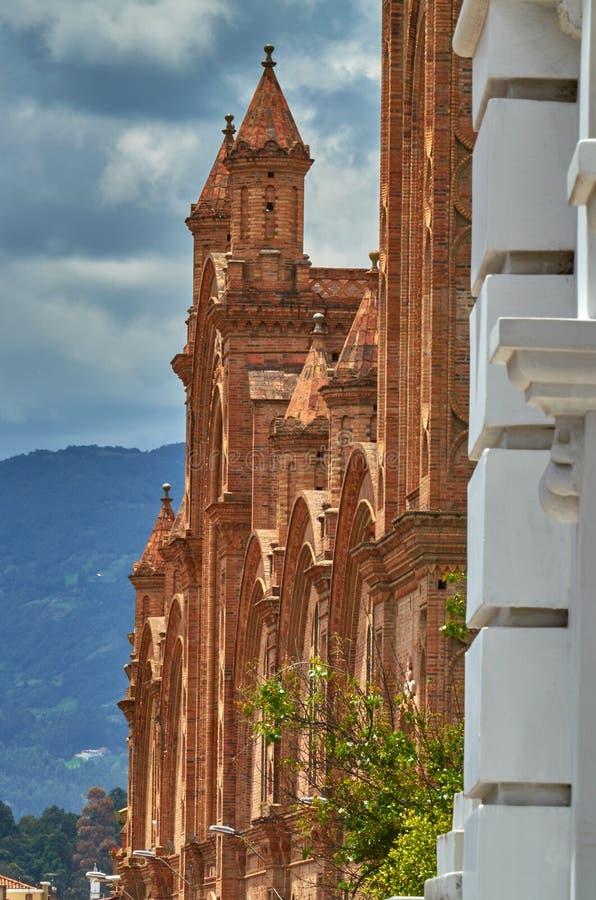 新的大教堂侧视图 免版税库存照片