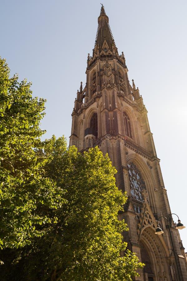新的大教堂在林茨-奥地利 图库摄影