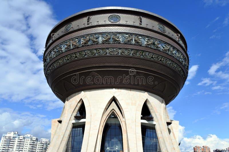 新的婚礼宫殿在喀山,鞑靼斯坦共和国,俄罗斯 免版税库存照片