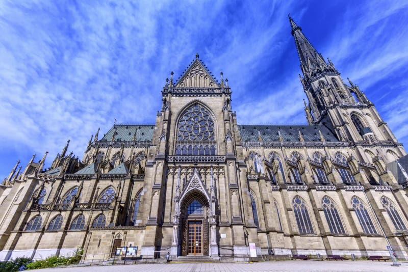 新的宣武门天主堂, Neuer Dom,林茨,奥地利 免版税库存图片