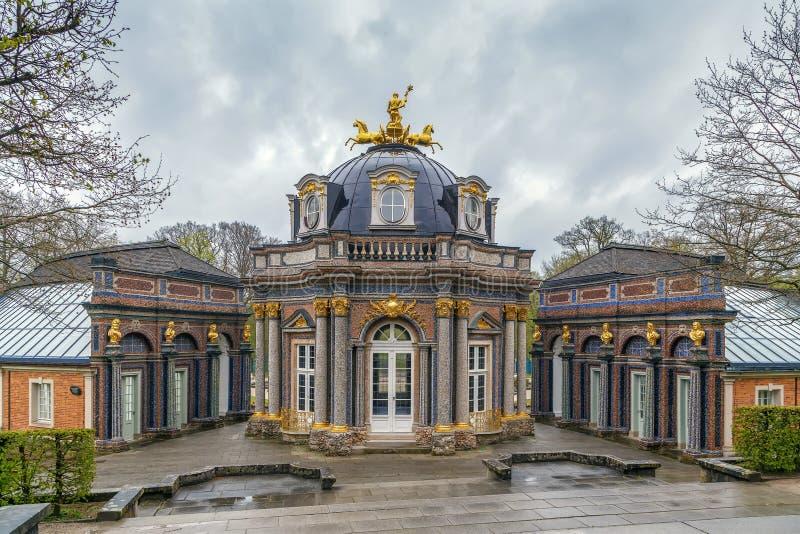 新的宫殿在偏僻寺院,拜罗伊特,德国 免版税库存照片
