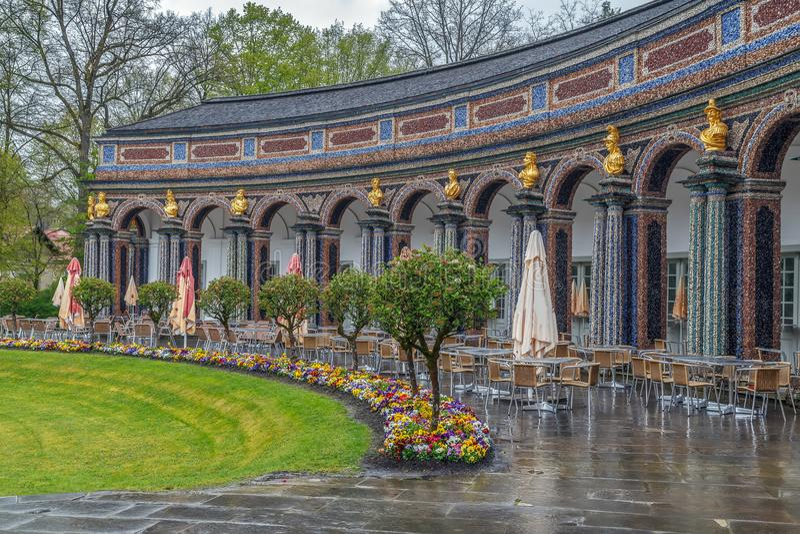 新的宫殿在偏僻寺院,拜罗伊特,德国 图库摄影
