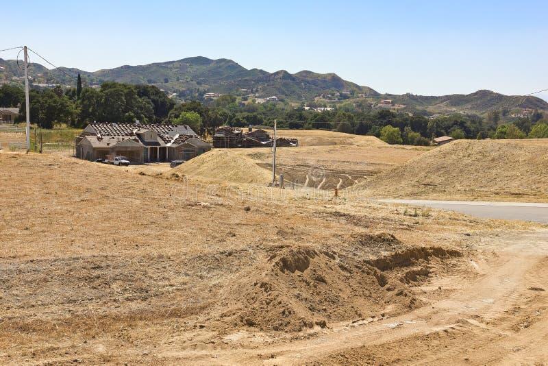 新的家庭建造场所 免版税库存图片