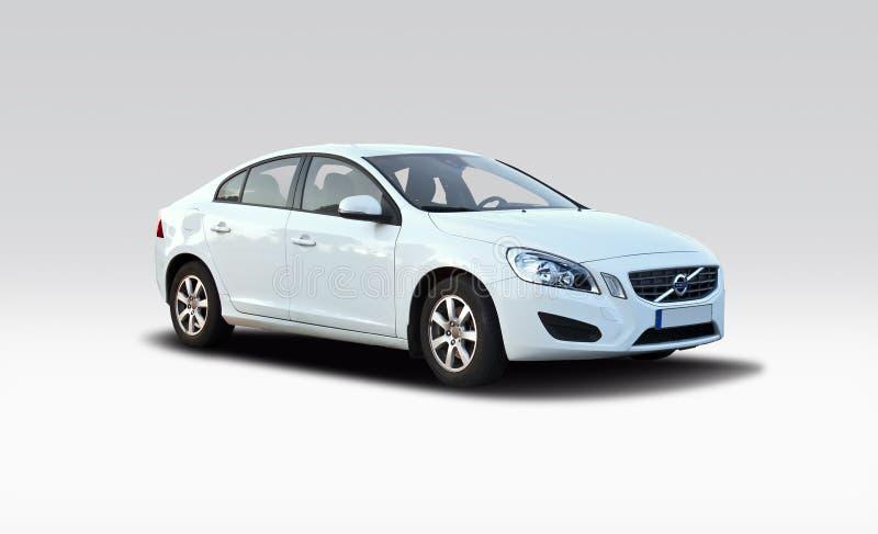 新的富豪集团S60白色 库存图片