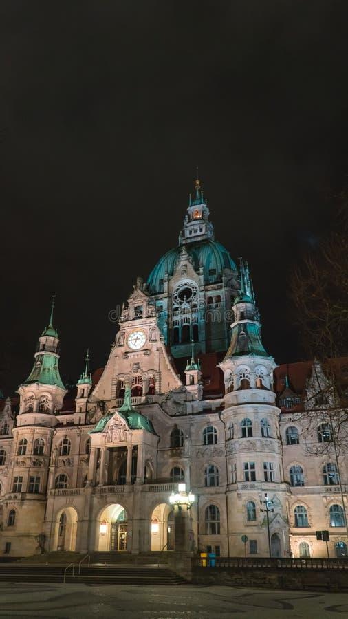 新的市政厅在汉诺威 免版税库存照片