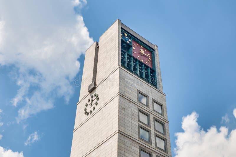 新的市政厅大厦在斯图加特,德国 库存图片