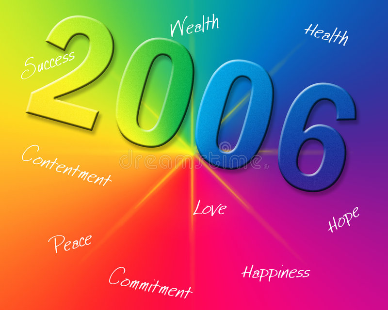 新的彩虹年 向量例证
