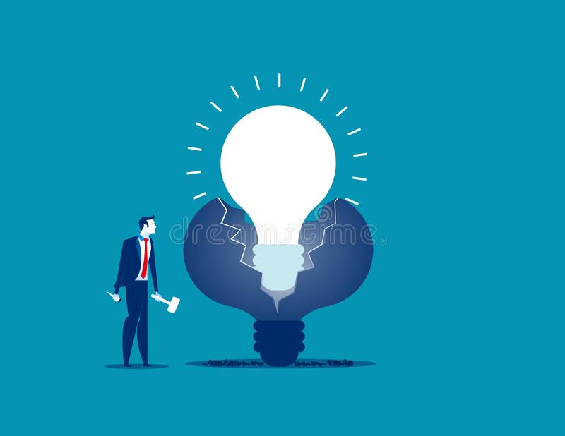 新的想法 商人做新的想法 概念企业传染媒介我 向量例证