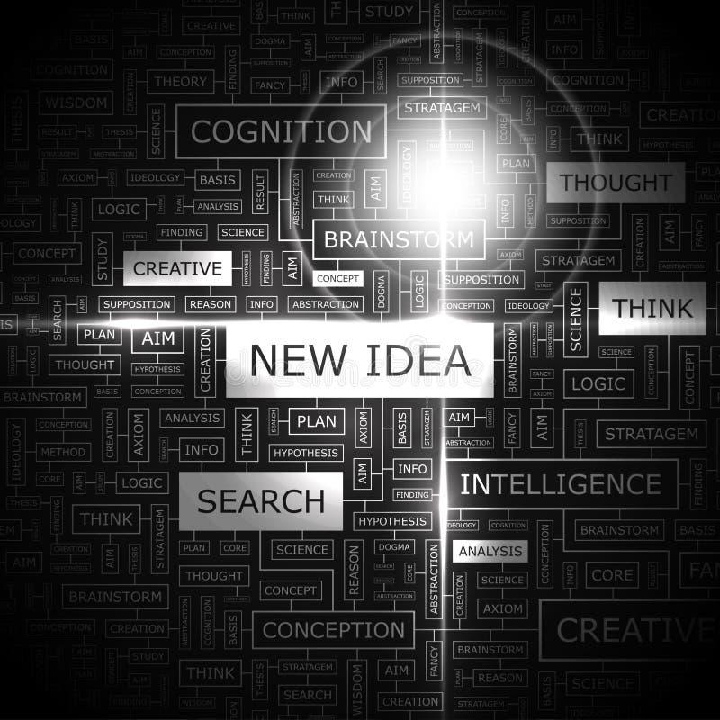 新的想法 向量例证