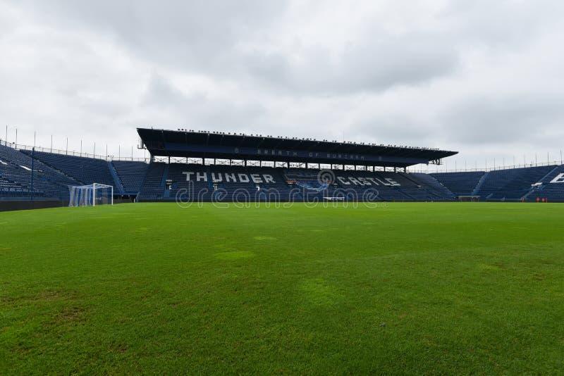 新的我流动体育场在武里喃府,泰国 库存照片