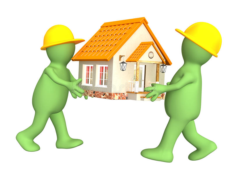 新的房子 向量例证