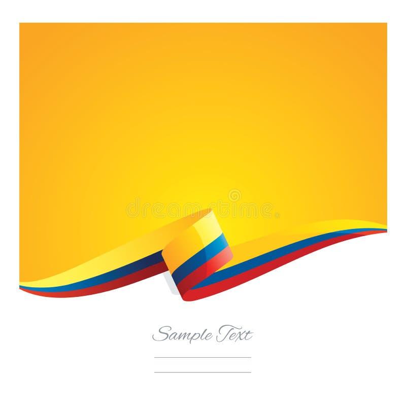 新的抽象哥伦比亚旗子丝带横幅 库存例证