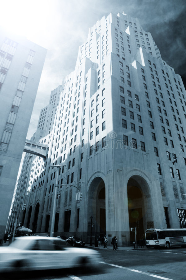 新的摩天大楼约克 库存照片