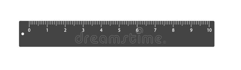 传染媒介象统治者 新的时髦公制 学校测量的长矛 测量的磁带 大小,测度向量 向量例证