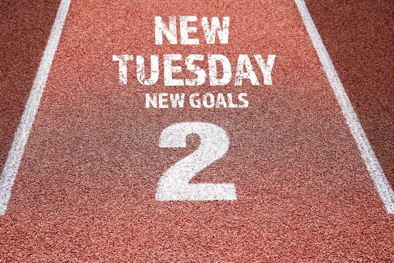 新的星期二,新的目标概念 免版税库存图片