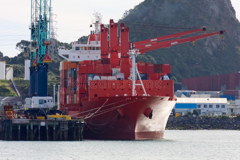 新的普利茅斯端口,新西兰。 免版税图库摄影