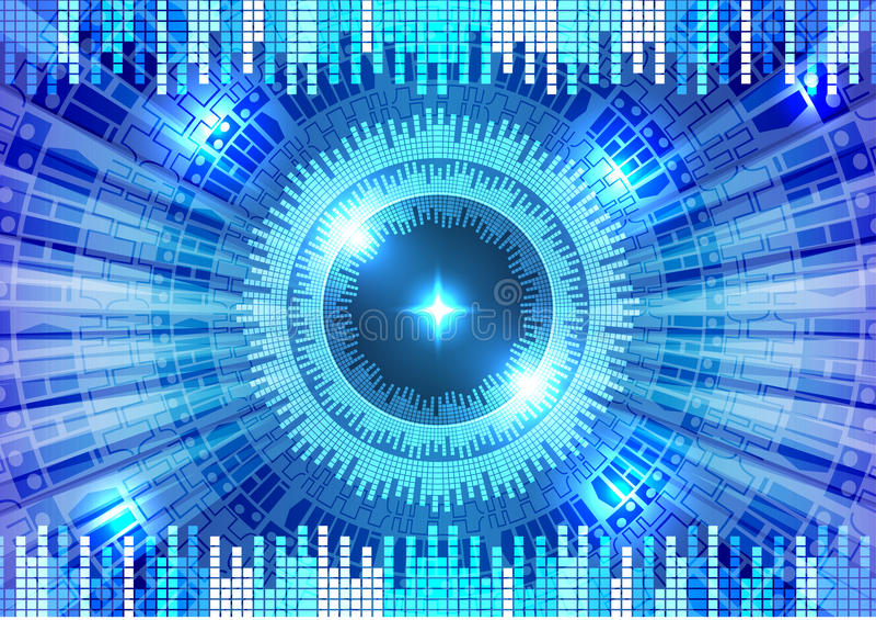 新的未来技术概念摘要背景 皇族释放例证