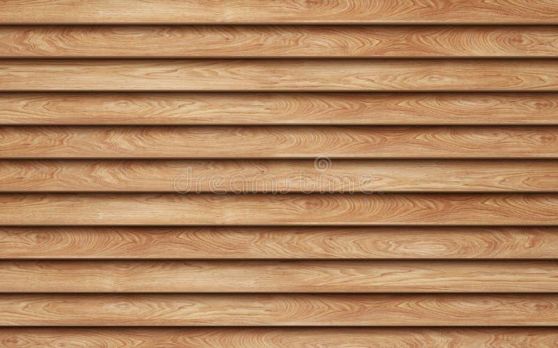 新的棕色木板条墙壁背景 库存例证