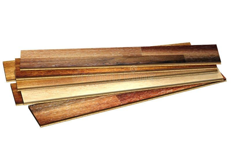 新的橡木木条地板 皇族释放例证